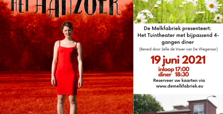 """28-05-2021: Tuintheater """"Het Aanzoek"""" met diner."""